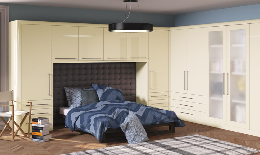 Bella High Gloss Cream Venice fitted Bedroom