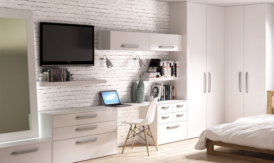 Bella Porcelain White Venice fitted Bedroom