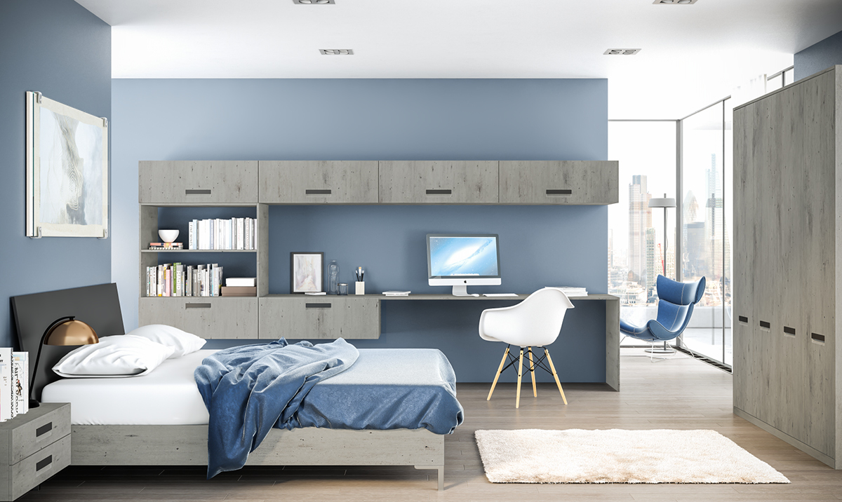 Bella London Concrete Lazio fitted Bedroom
