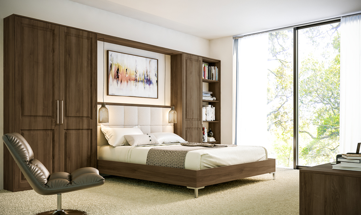 Bella Natural Walnut Tuscany fitted Bedroom