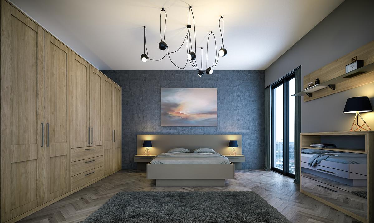 Bella Tortona Natural Oak Shaker fitted Bedroom
