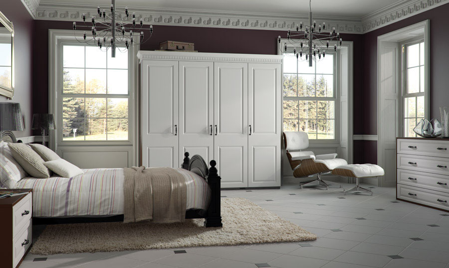 Bella Satin White York fitted Bedroom