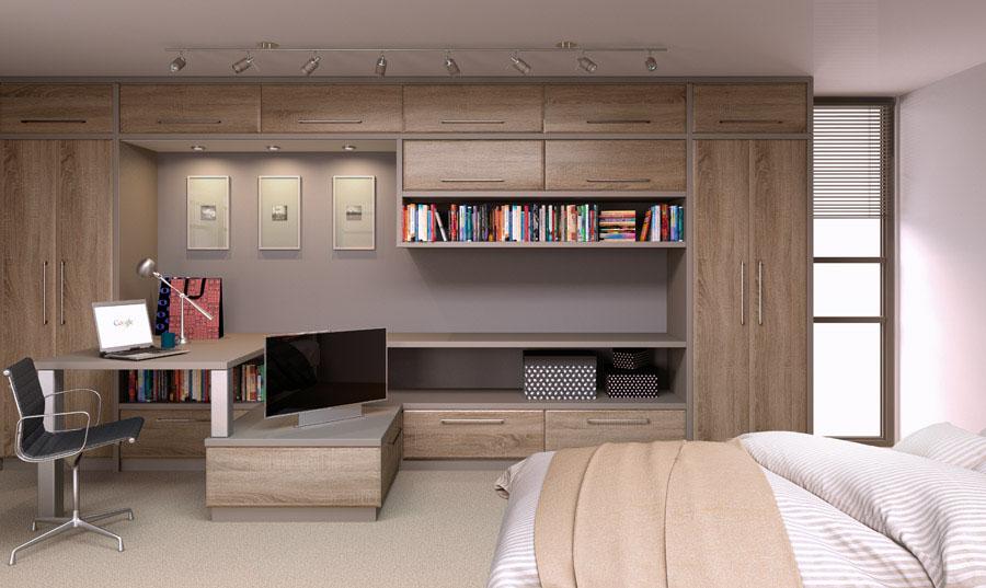 Bella Sonoma Natural Oak fitted Bedroom