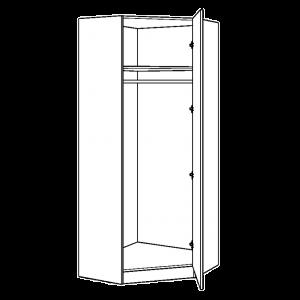 Diagonal Corner Wardrobe