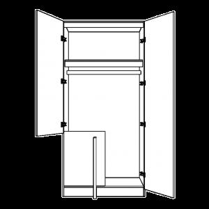 Corner wardrobe (straight) with blanking panel
