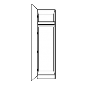 Single wardrobe with full height hanging space