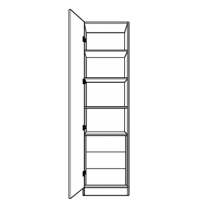 Single Wardrobe with 3 Internal Shelves and Fixed Shelving
