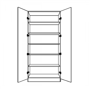 Double Wardrobe with fixed internal shelving