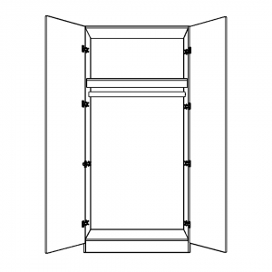 Double Wardrobe with long hanging interior option
