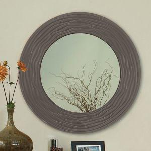 Sahara Carved Round Mirror 600mm