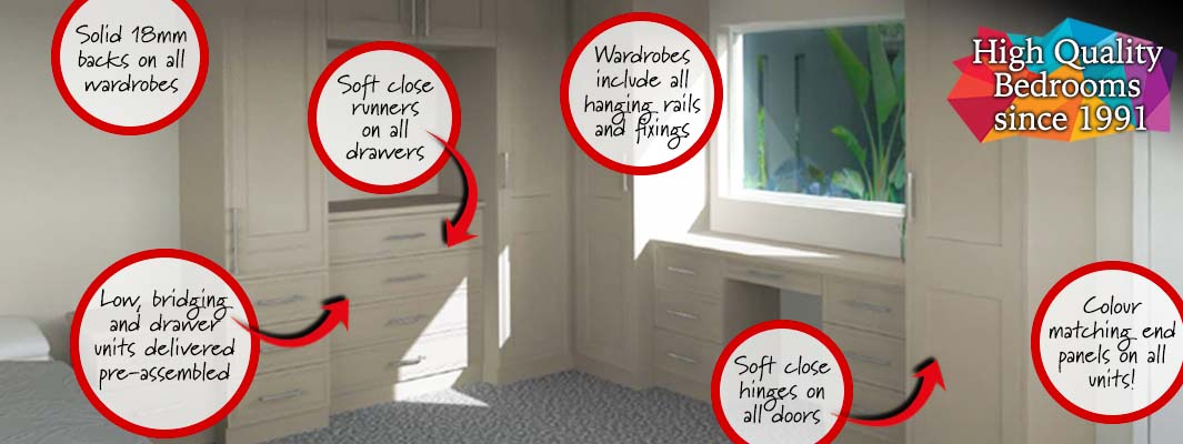 Top quality DIY fitted wardrobes and bedroom furniture