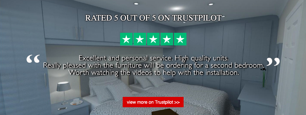 DIY Fitted Bedrooms rated 5 out of 5 on Trustpilot