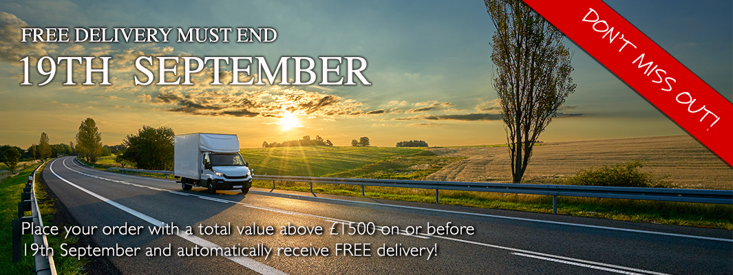 Free delivery must end 19th September