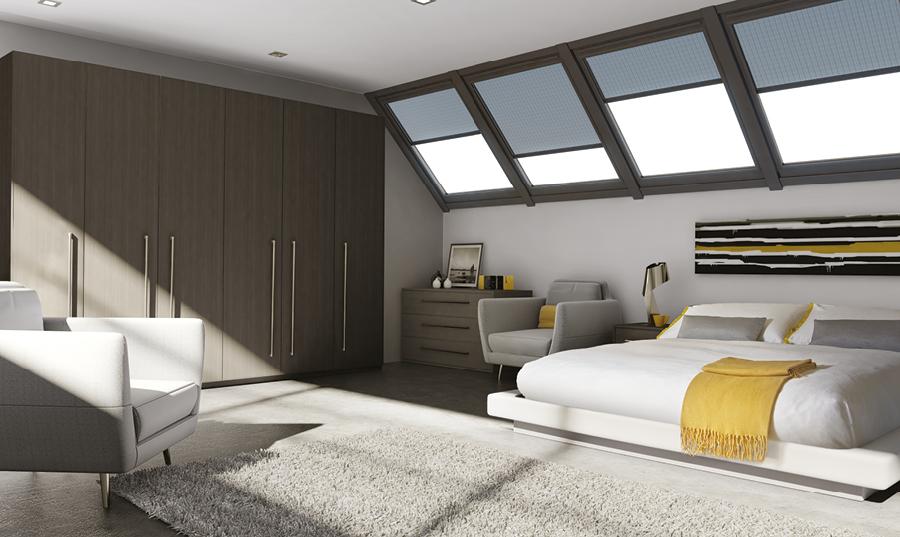 Bella Opengrain Dark Grey Venice fitted Bedroom