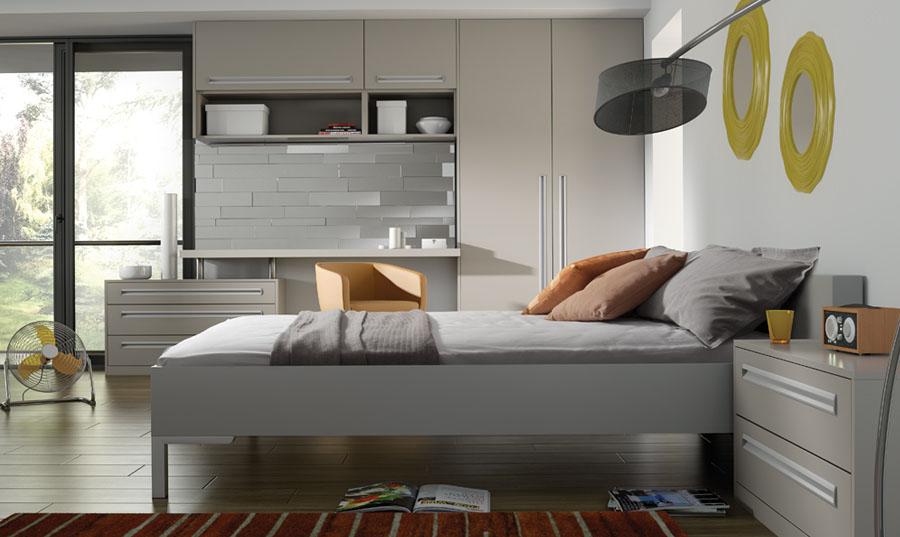 Bella Matt Dove Grey Inset fitted Bedroom