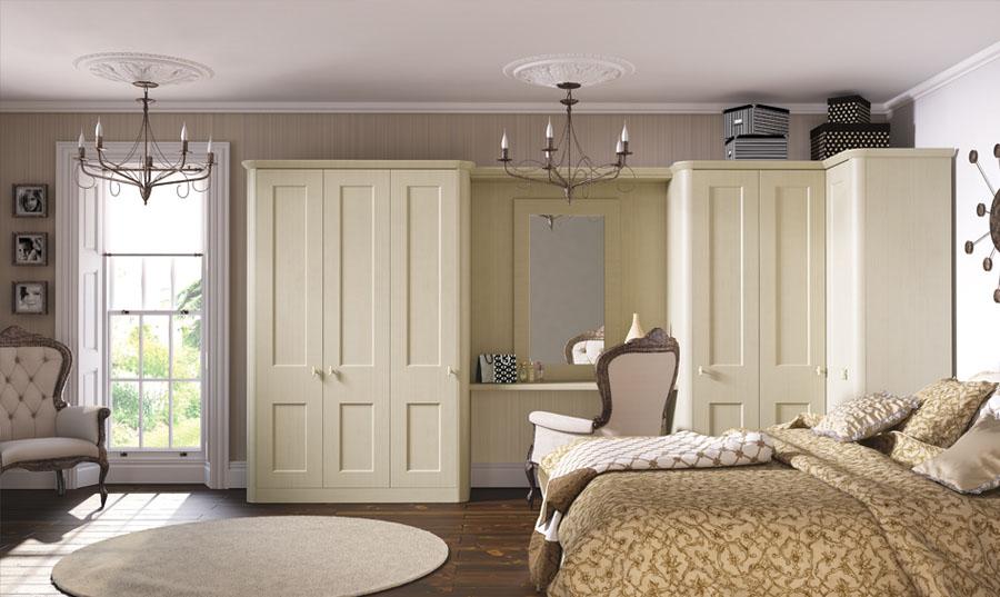 Bella Oakgrain Cream Cambridge fitted Bedroom