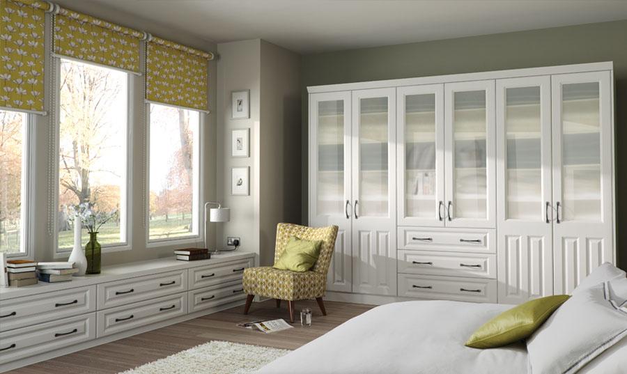 Bella Super White Ash Milano fitted Bedroom