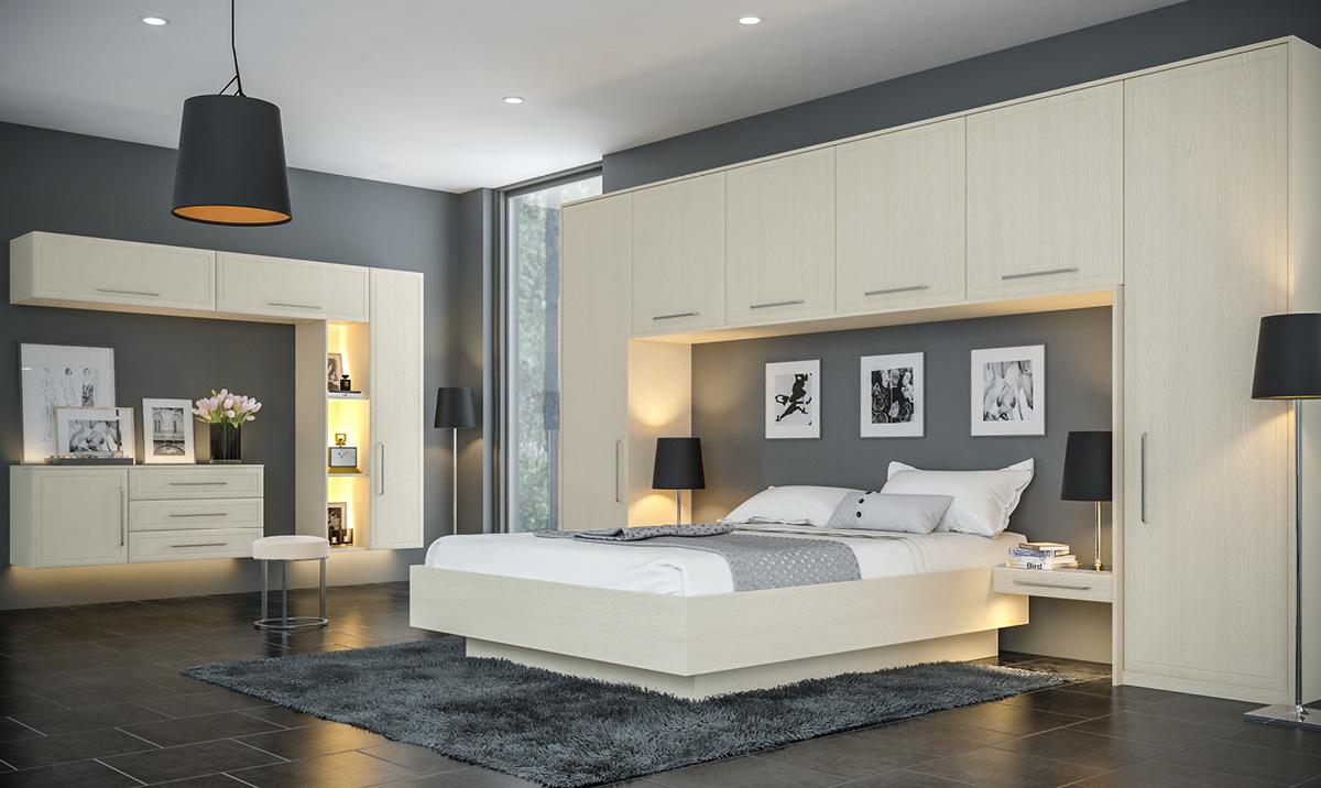 Bella Oakgrain Cashmere Euroline fitted Bedroom