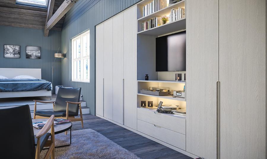 Bella Oakgrain Grey Integra fitted Bedroom