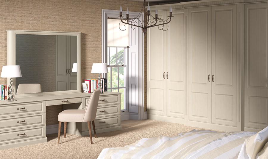 Bella Oakgrain Mussel Palermo fitted Bedroom