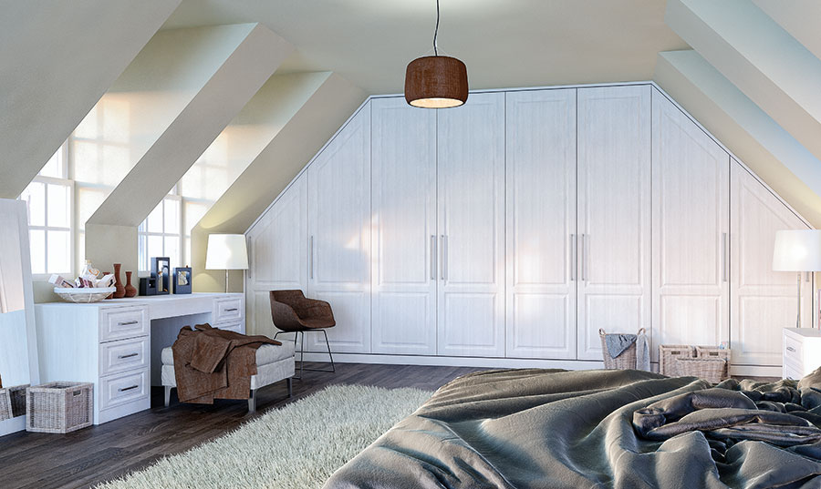 Palermo Opengrain White fitted Bedroom