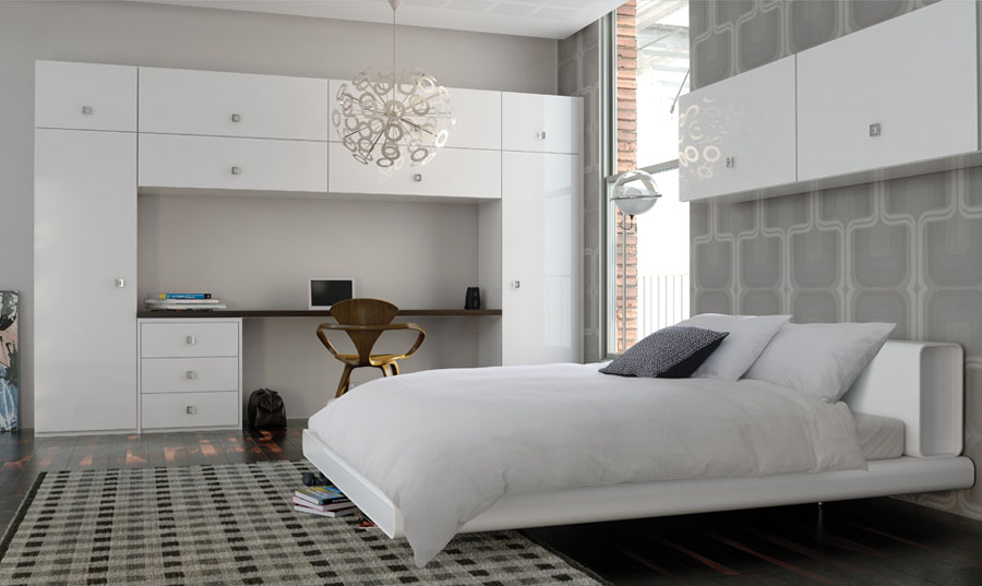 Zurfiz Ultragloss White fitted Bedrooms