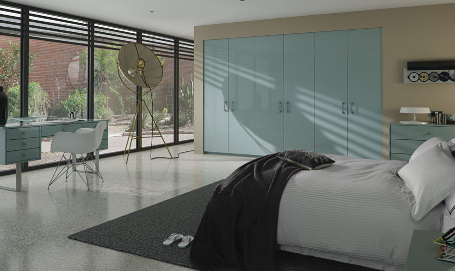 Zurfiz Ultragloss Metallic Blue fitted Bedroom