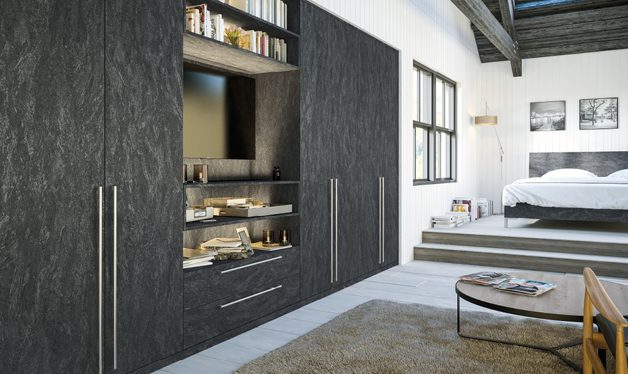 Zurfiz Evora Stone Graphite fitted Bedroom