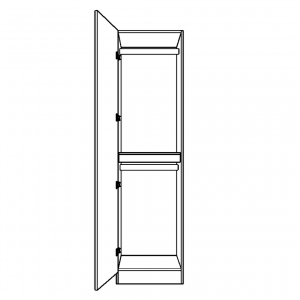 Single wardrobe with double hanging space