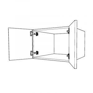 Top Box 415mm High Double Door