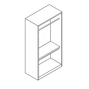 Double Wardrobe with Double Hanging Interior