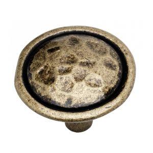 35mm Mottled Knob (antique brass)