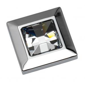 35mm Crystal Knob (chrome)