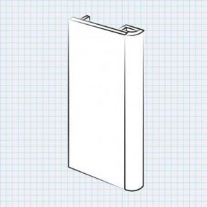 Bella Radius End Panel for Wardrobes (fixed size)