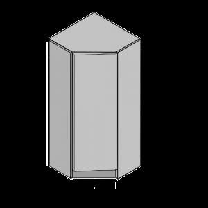 Corner Diagonal Wardrobe 915mm