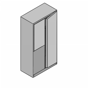 Corner Wardrobe (straight) with Stable Door