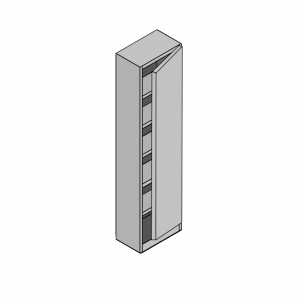 Shallow depth Single Wardrobe with 5 Shelves