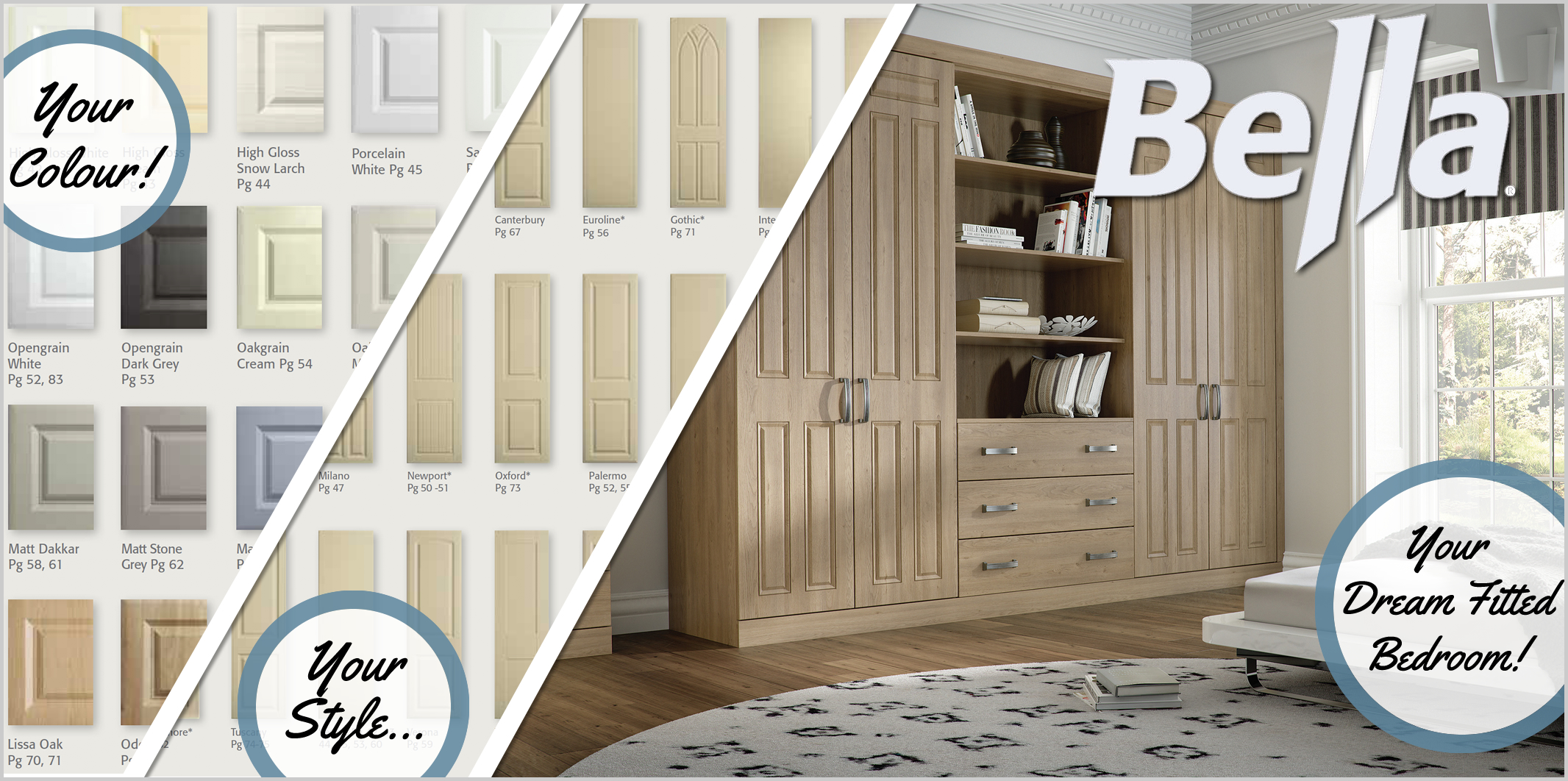 Bella Range of fitted bedroom furniture